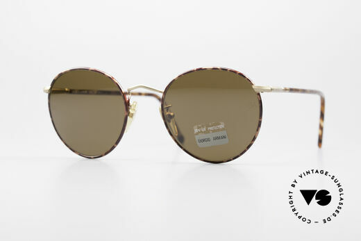 Giorgio Armani 639 No Retro Panto Sunglasses Details