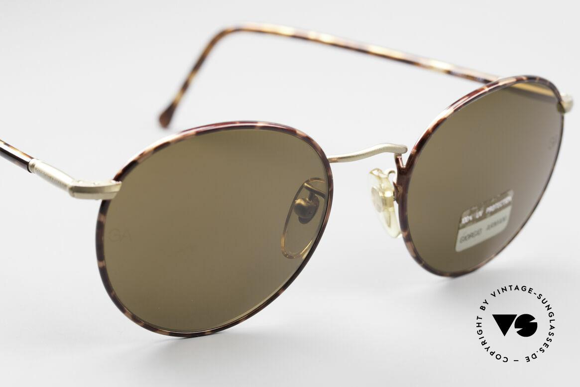 Giorgio Armani 639 No Retro Panto Sunglasses, unworn rarity (like all our rare vintage GA sunglasses), Made for Men and Women