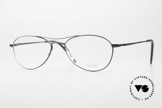 Oliver Peoples Aero Extraordinary Aviator Glasses Details