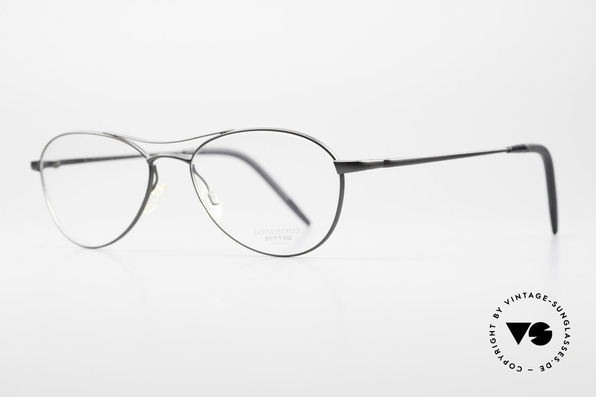 Oliver Peoples Aero Extraordinary Aviator Glasses, eyewear design inspired by the 20's Art Deco period, Made for Men