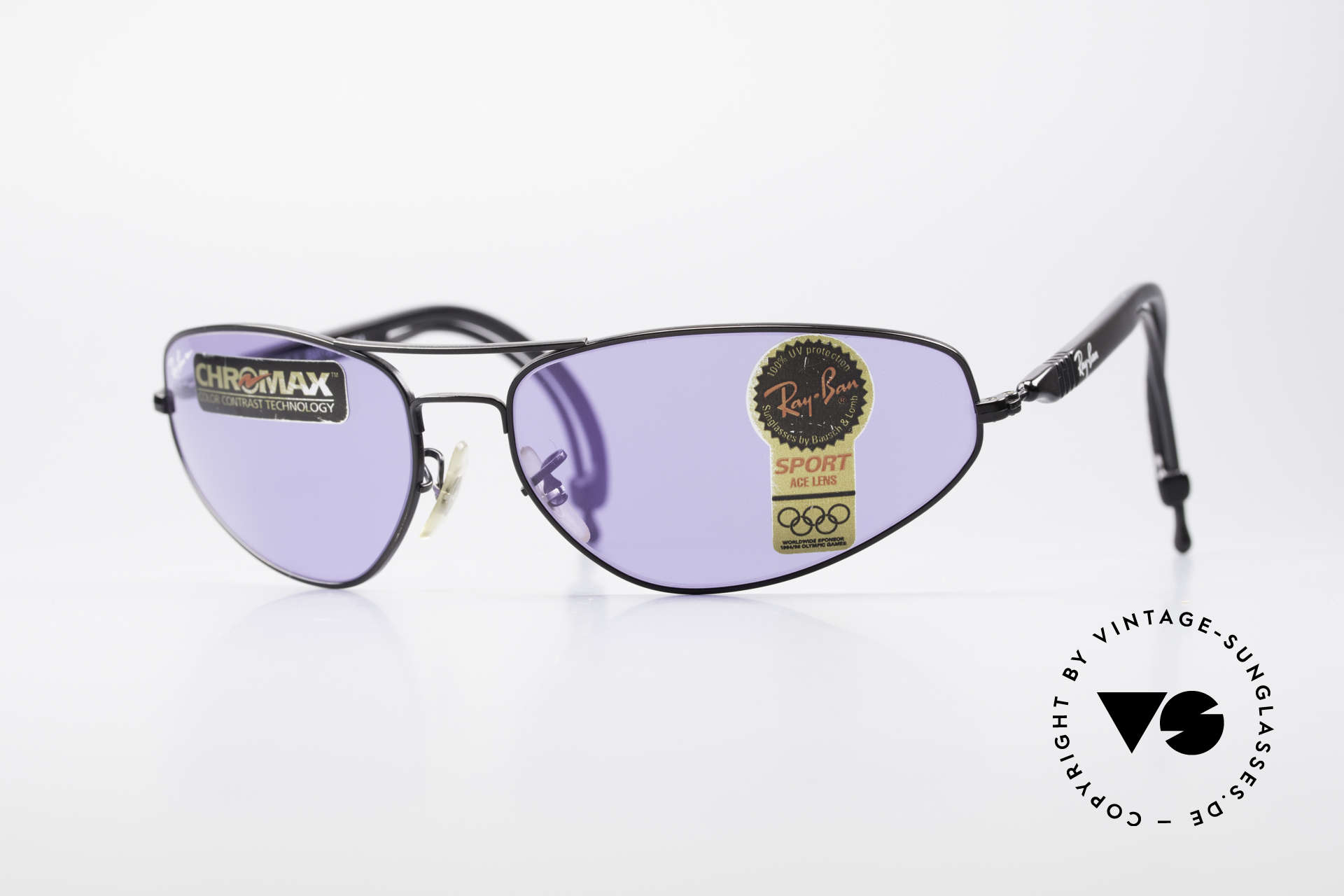 Ray Ban Sport Series 3 ACE Chromax B&L Sun Lenses, Ray-Ban SportSeries 3: vintage 90's sports shades, Made for Men