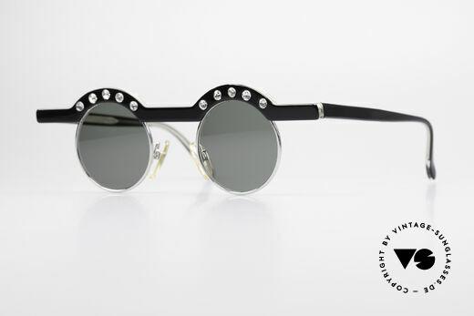 Theo Belgium Revoir Rare Round Gem Sunglasses Details