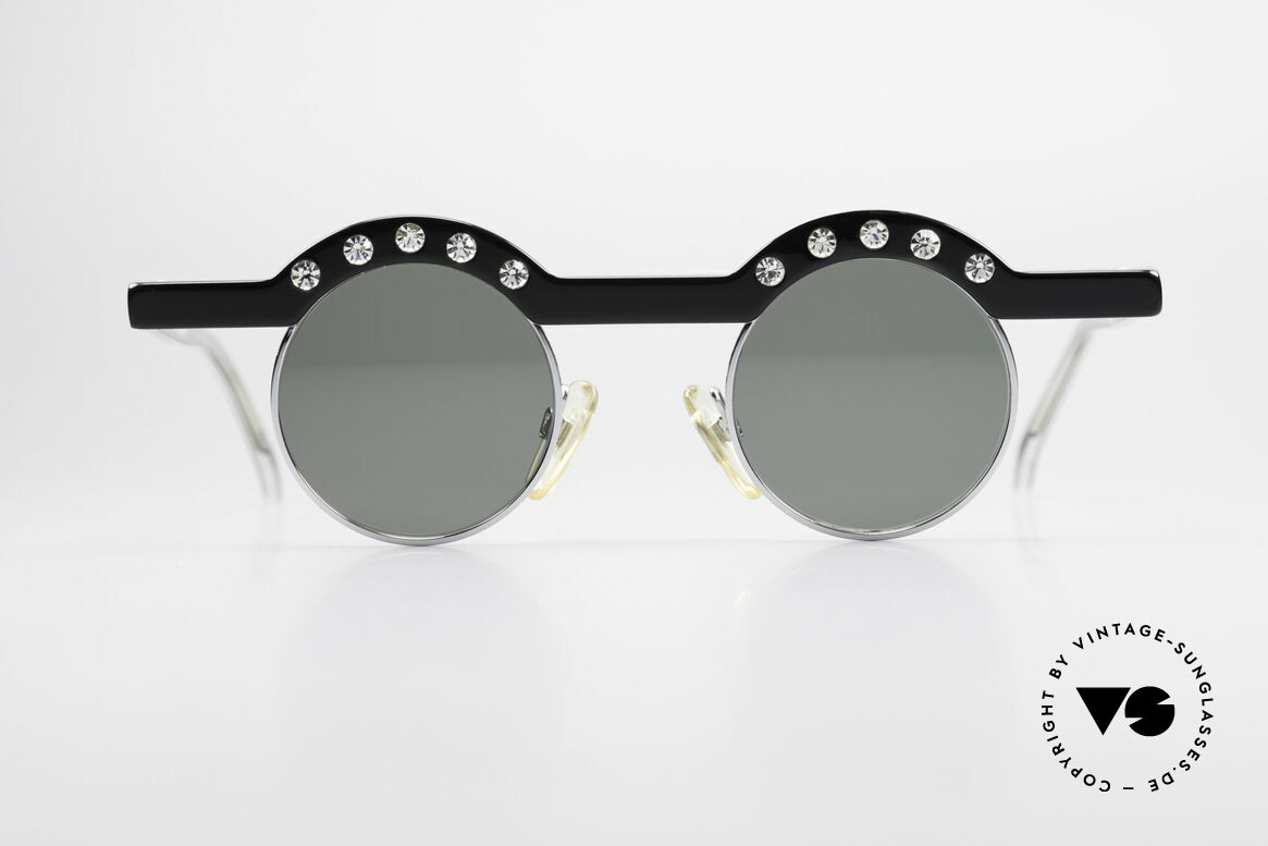 Theo Belgium Revoir Rare Round Gem Sunglasses, founded in 1989 as 'opposite pole' to the 'mainstream', Made for Women