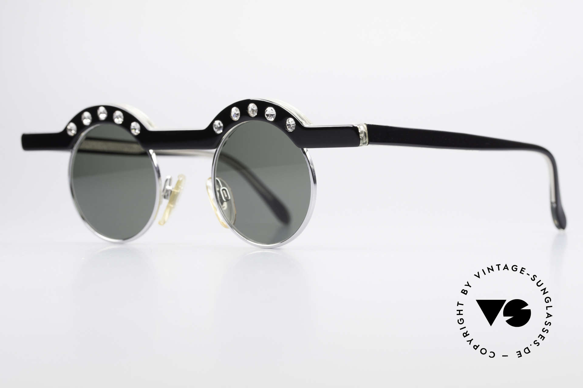 Theo Belgium Revoir Rare Round Gem Sunglasses, made for the avant-garde, individualists, trend-setters, Made for Women