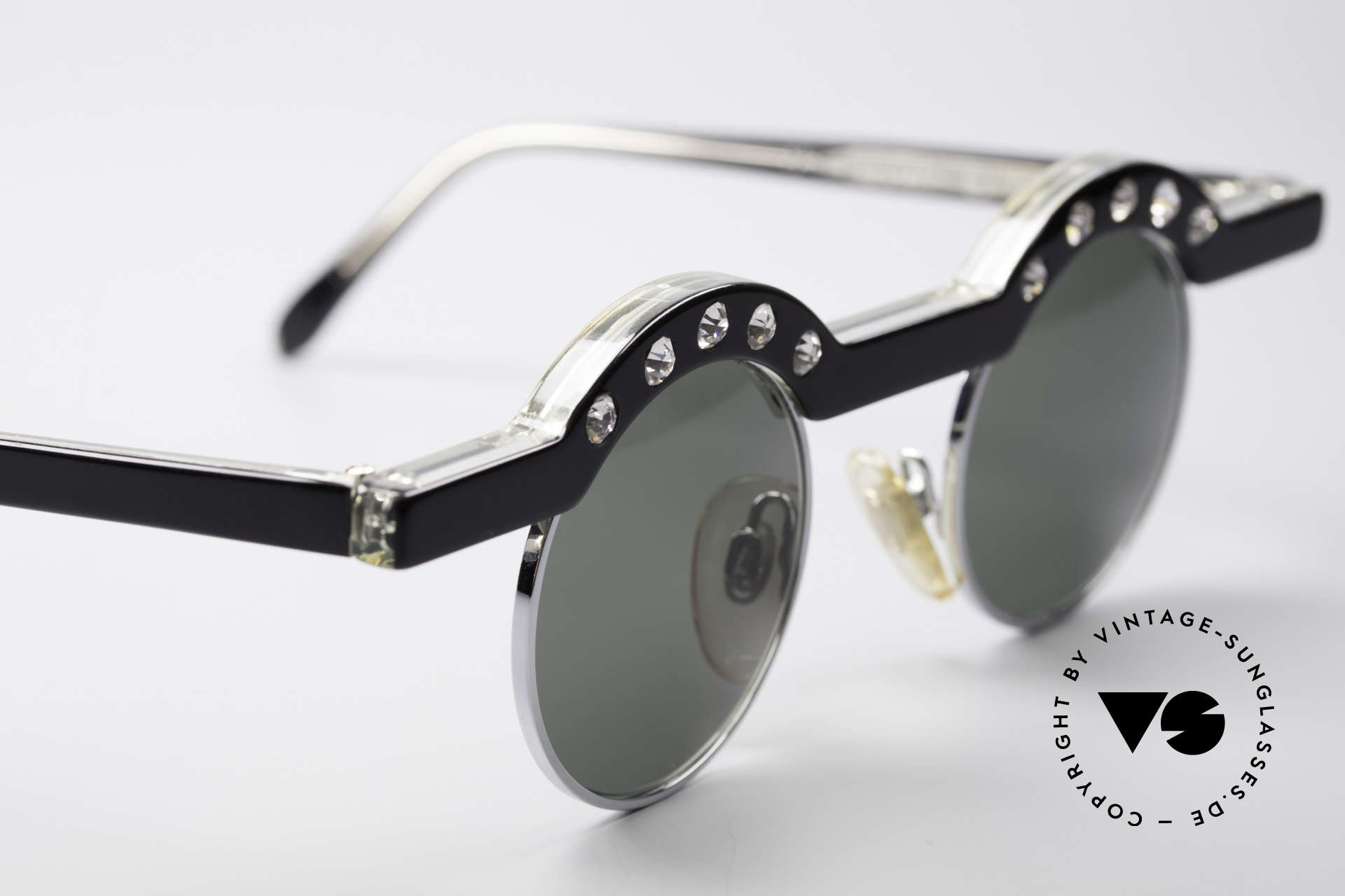 Theo Belgium Revoir Rare Round Gem Sunglasses, unworn, one of a kind, THEO shades for all who dare ;), Made for Women