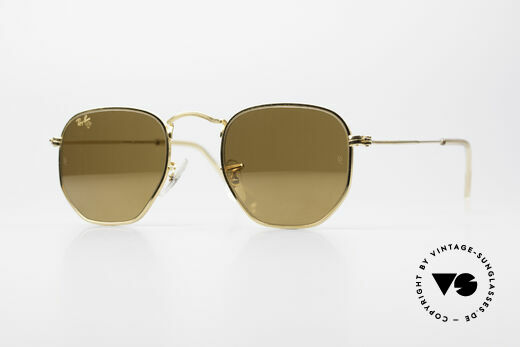 Ray Ban Classic Style III Diamond Hard Gold Mirrored Details