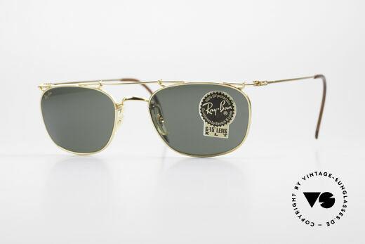 Ray Ban Deco Metals Carre Rare B&L USA 90's Sunglasses Details