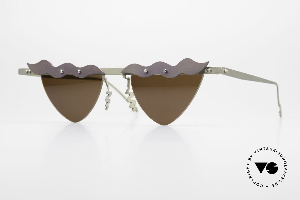 Theo Belgium Tita II C10 Heart Shaped Sun Lenses, Theo Belgium: the most self-willed brand in the world, Made for Women