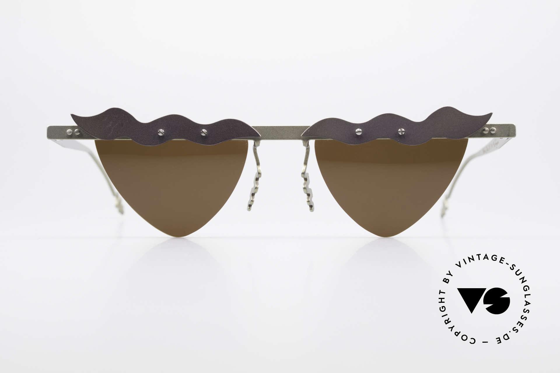 Theo Belgium Tita II C10 Heart Shaped Sun Lenses, founded in 1989 as 'anti mainstream' eyewear / glasses, Made for Women
