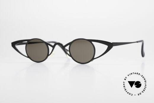 Theo Belgium Saturnus Round Designer Sunglasses Details