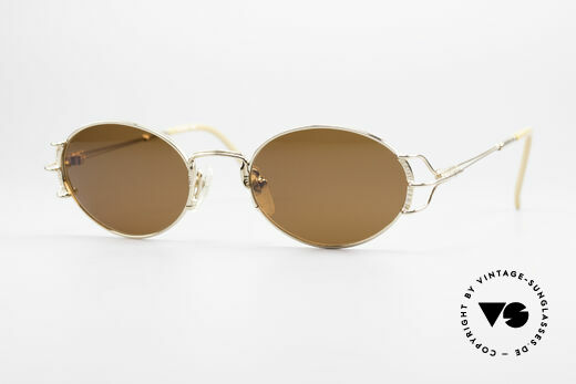 Jean Paul Gaultier 55-6104 Oval Designer Sunglasses Details