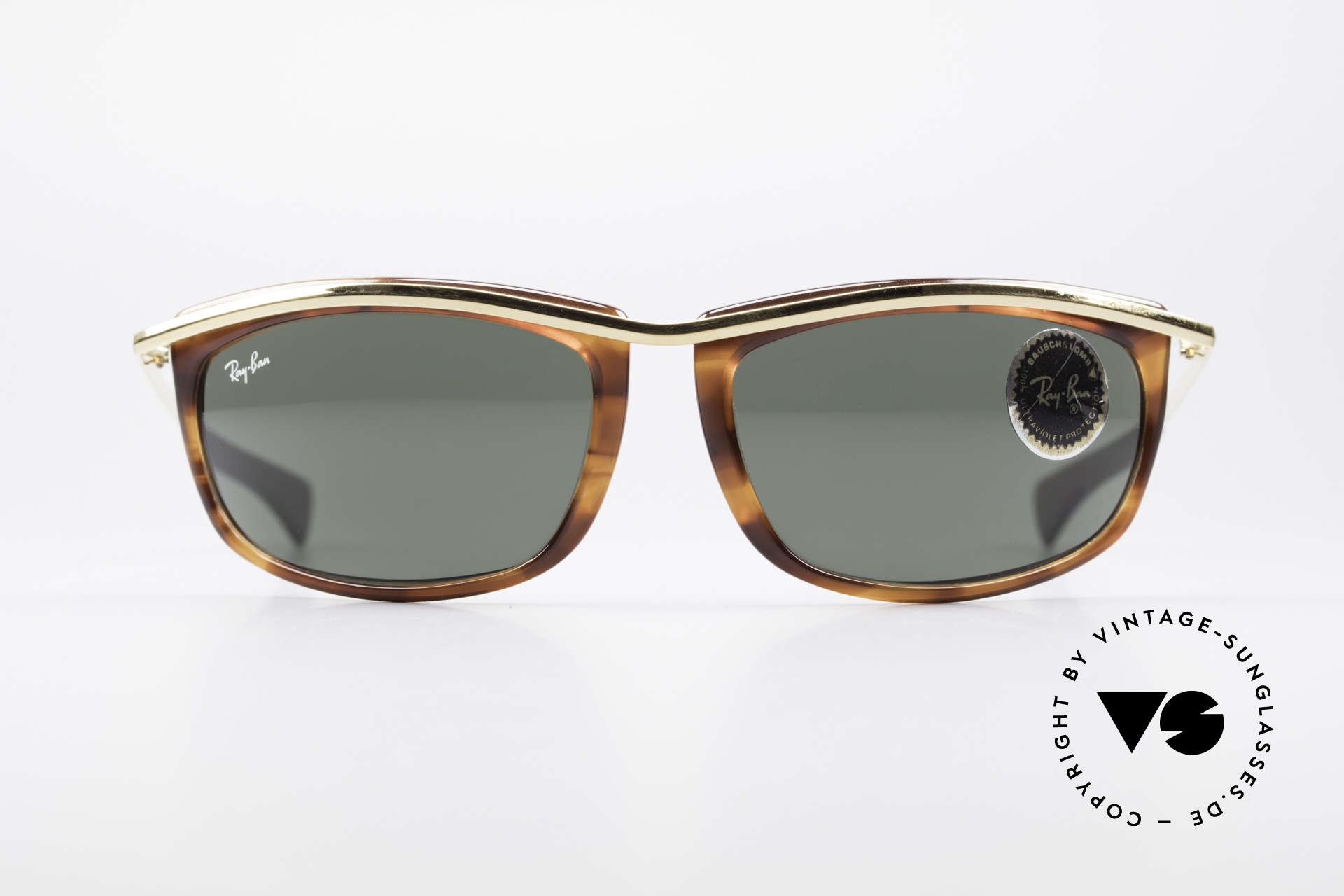 Ray Ban Olympian I Sporty USA B&L Sunglasses, striking shape & perfect XL fit (high-end quality), Made for Men