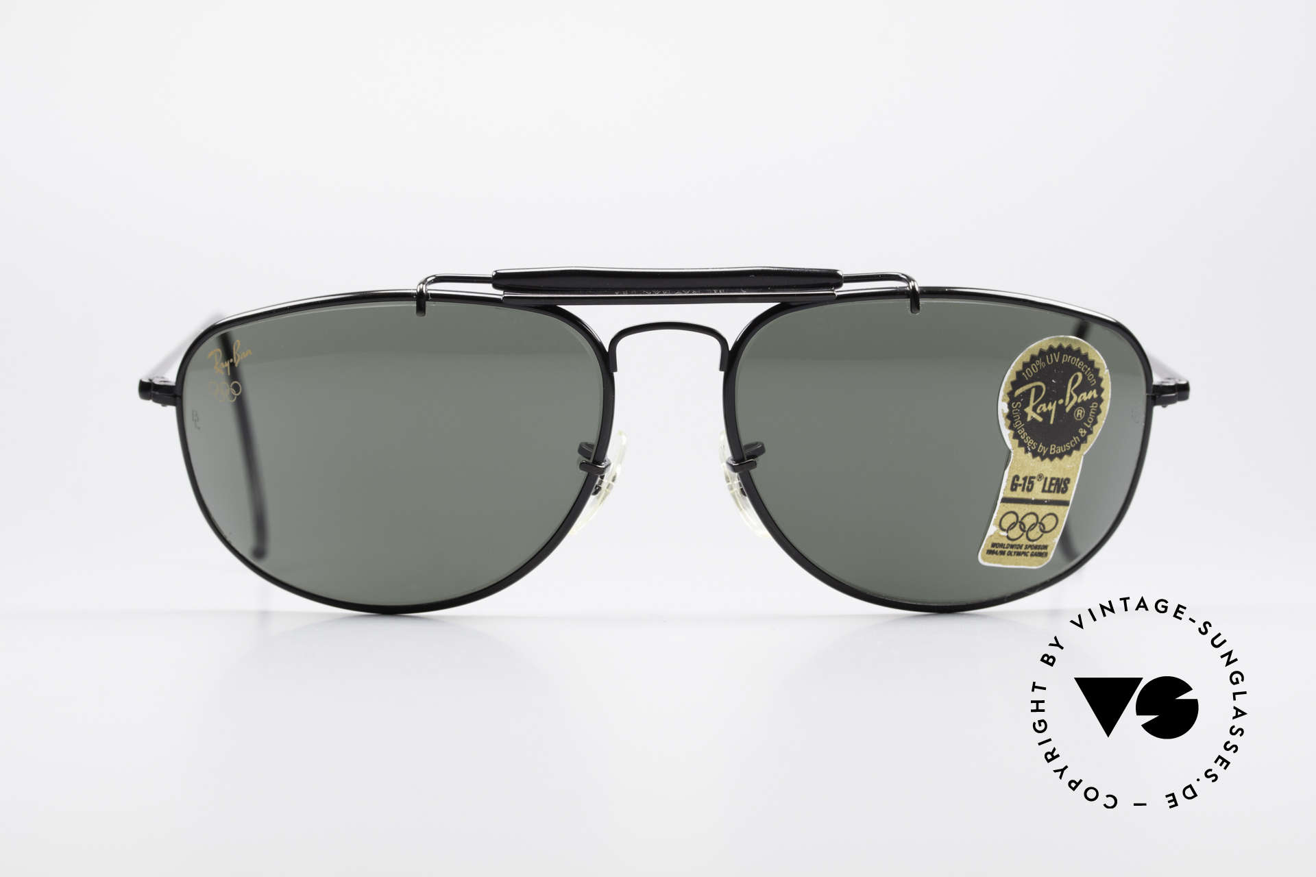 Ray Ban Sport Metal 1992 Olympic Series B&L USA, size 61°15 with legendary Bausch&Lomb mineral lenses, Made for Men