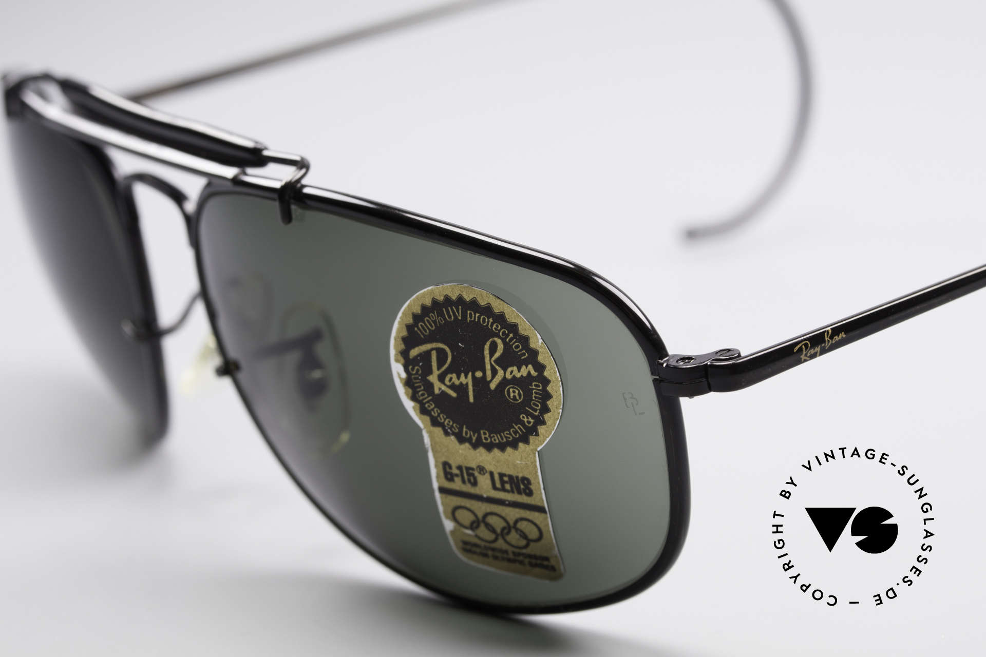 Ray Ban Sport Metal 1992 Olympic Series B&L USA, unworn; like all our vintage USA Ray Ban sports glasses, Made for Men