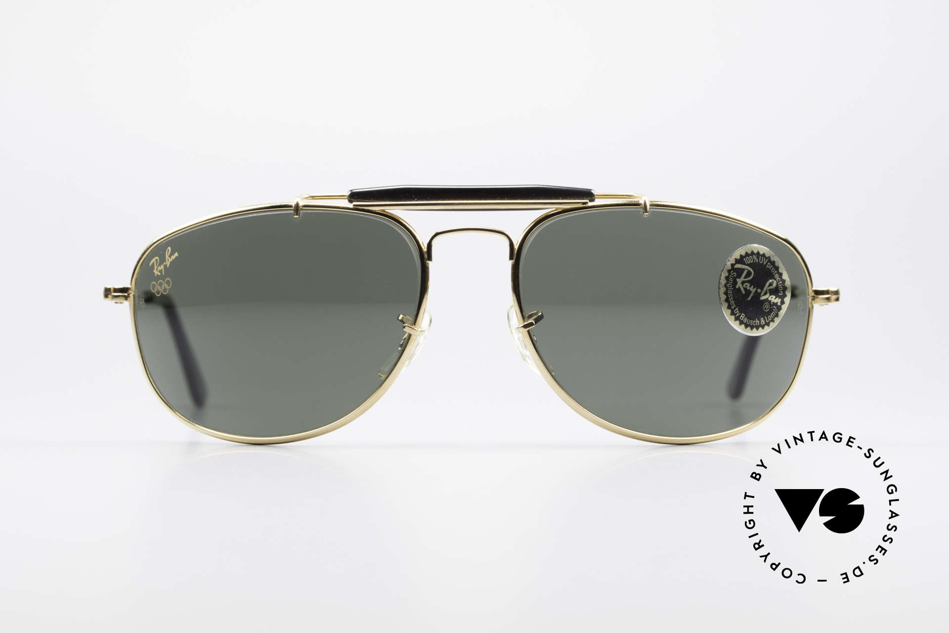 Ray Ban Sport Metal 1992 Rare Olympic Series B&L USA, size 61°15 with legendary Bausch&Lomb mineral lenses, Made for Men