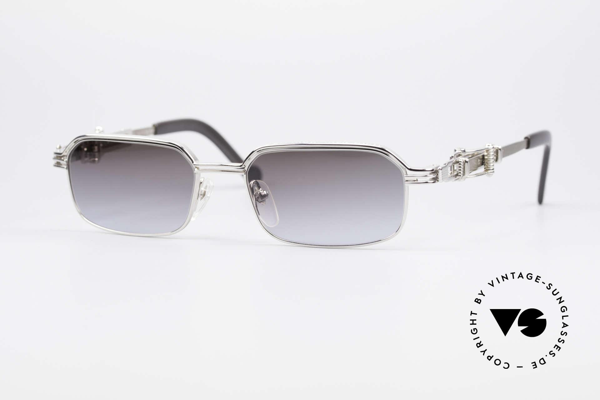 Jean Paul Gaultier 56-0002 Belt Buckle Frame Adjustable, vintage Jean Paul GAULTIER sunglasses from 1996, Made for Men
