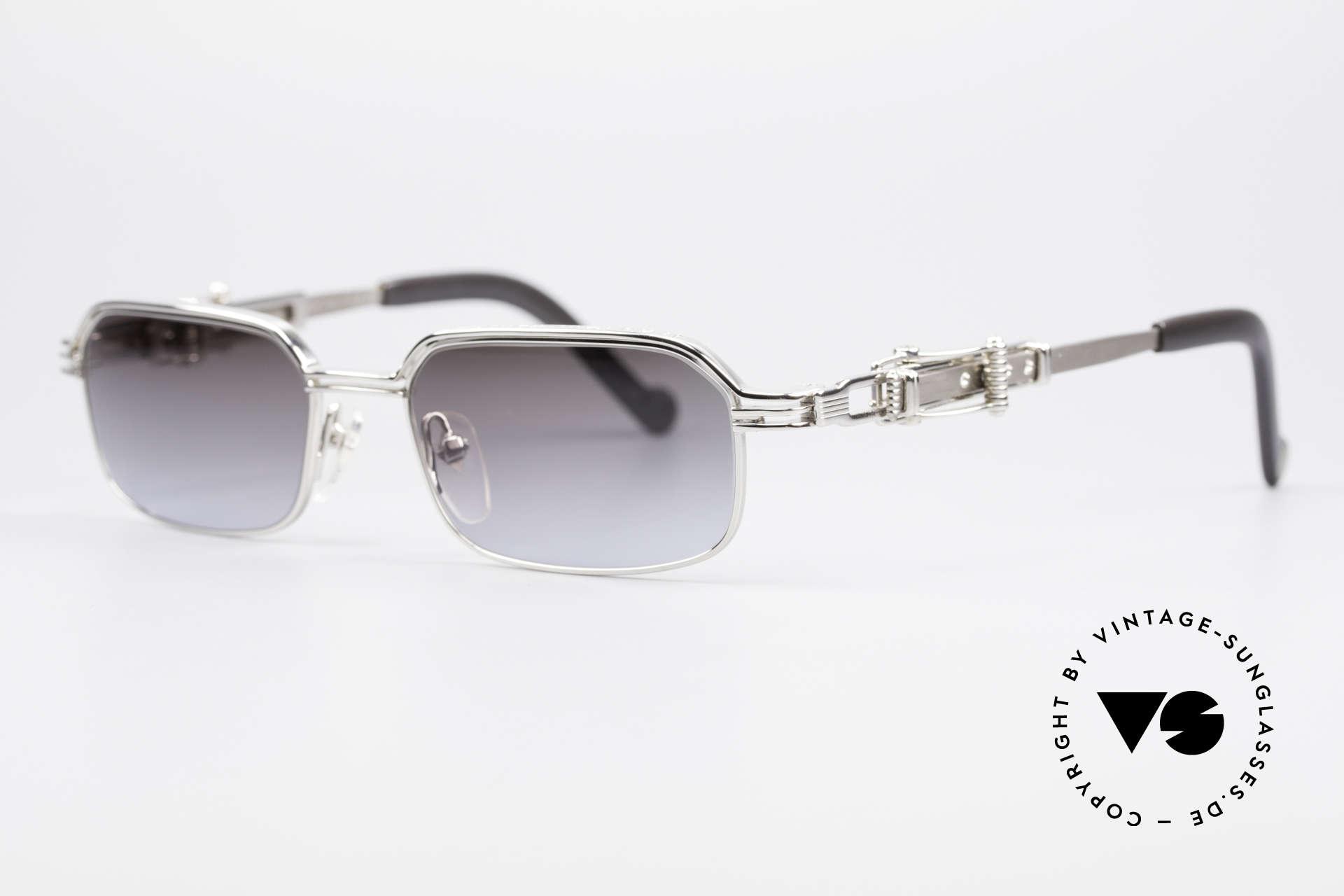 Jean Paul Gaultier 56-0002 Belt Buckle Frame Adjustable, adjustable temple-system looks like a belt buckle, Made for Men