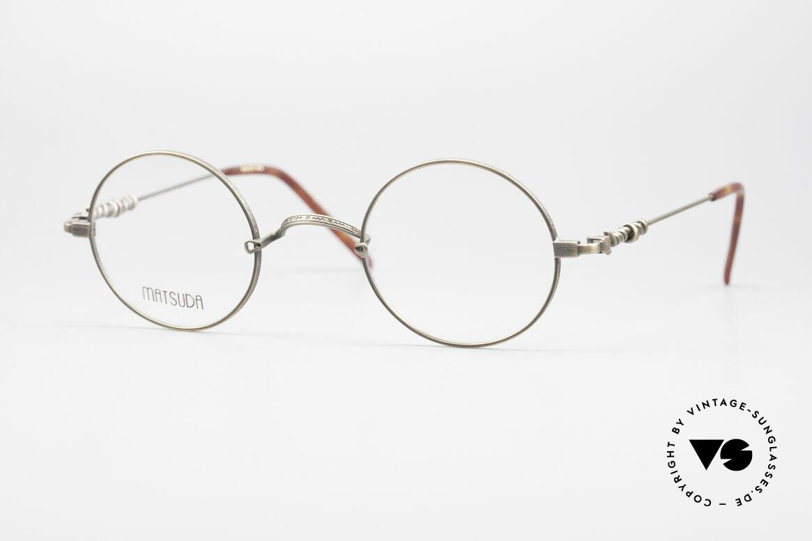 Matsuda 2869 90's Vintage Glasses Round, 90's vintage designer eyeglasses by Matsuda, Japan, Made for Men and Women