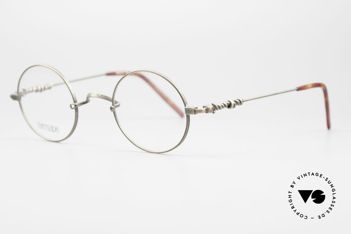Matsuda 2869 90's Vintage Glasses Round, the frame front is decorated with costly engravings, Made for Men and Women