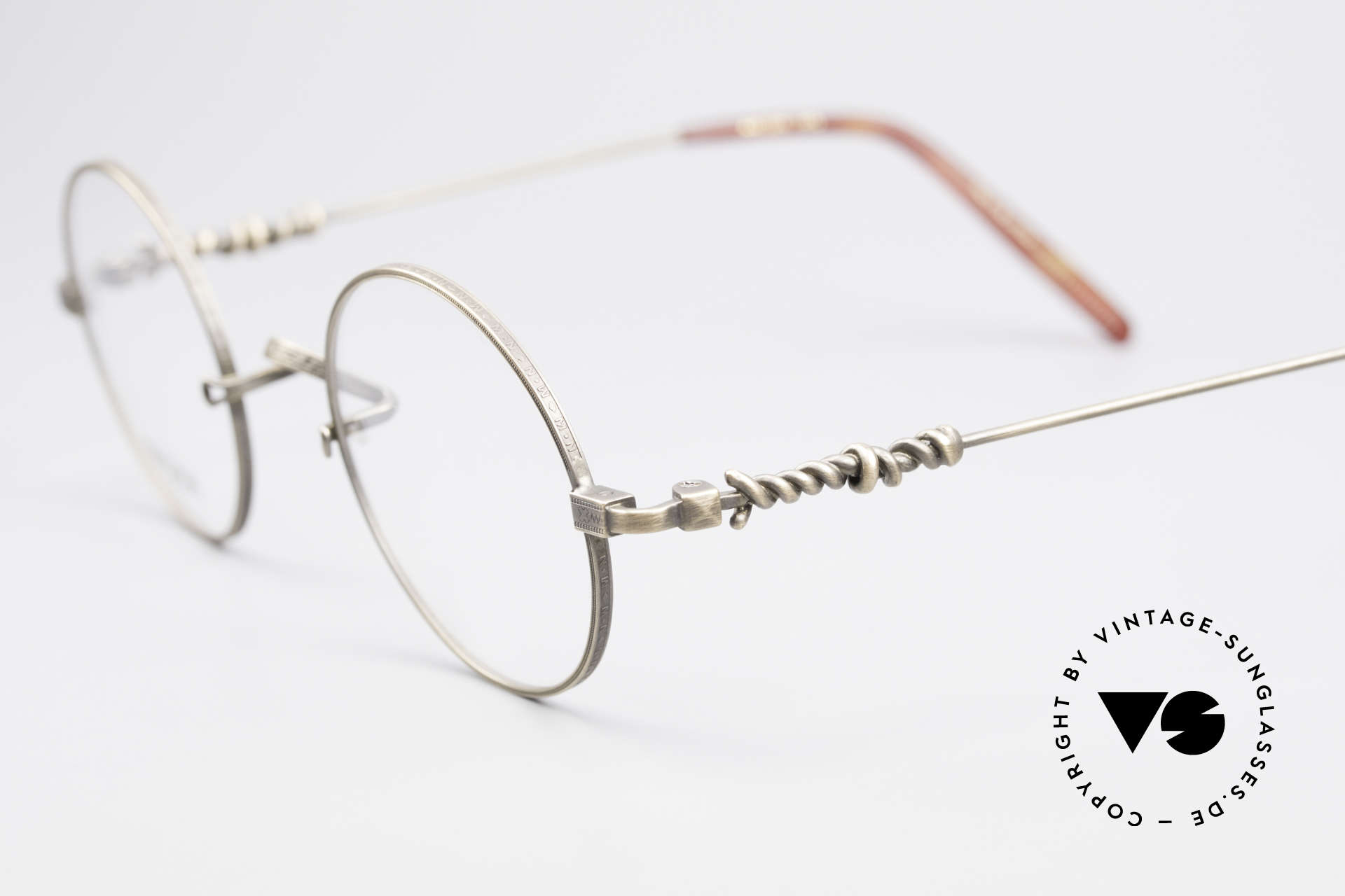 Matsuda 2869 90's Vintage Glasses Round, demo lenses can be easily replaced with prescriptions, Made for Men and Women