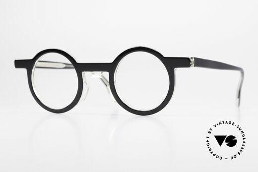 Theo Belgium Phily Round Designer Eyeglasses Details