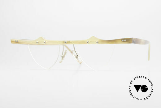 Theo Belgium Eta Heart Glasses Buffalo Horn Details