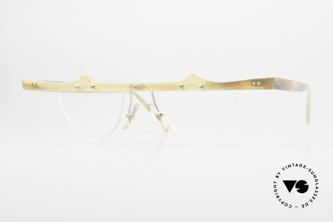 Theo Belgium Eta Heart Glasses Buffalo Horn