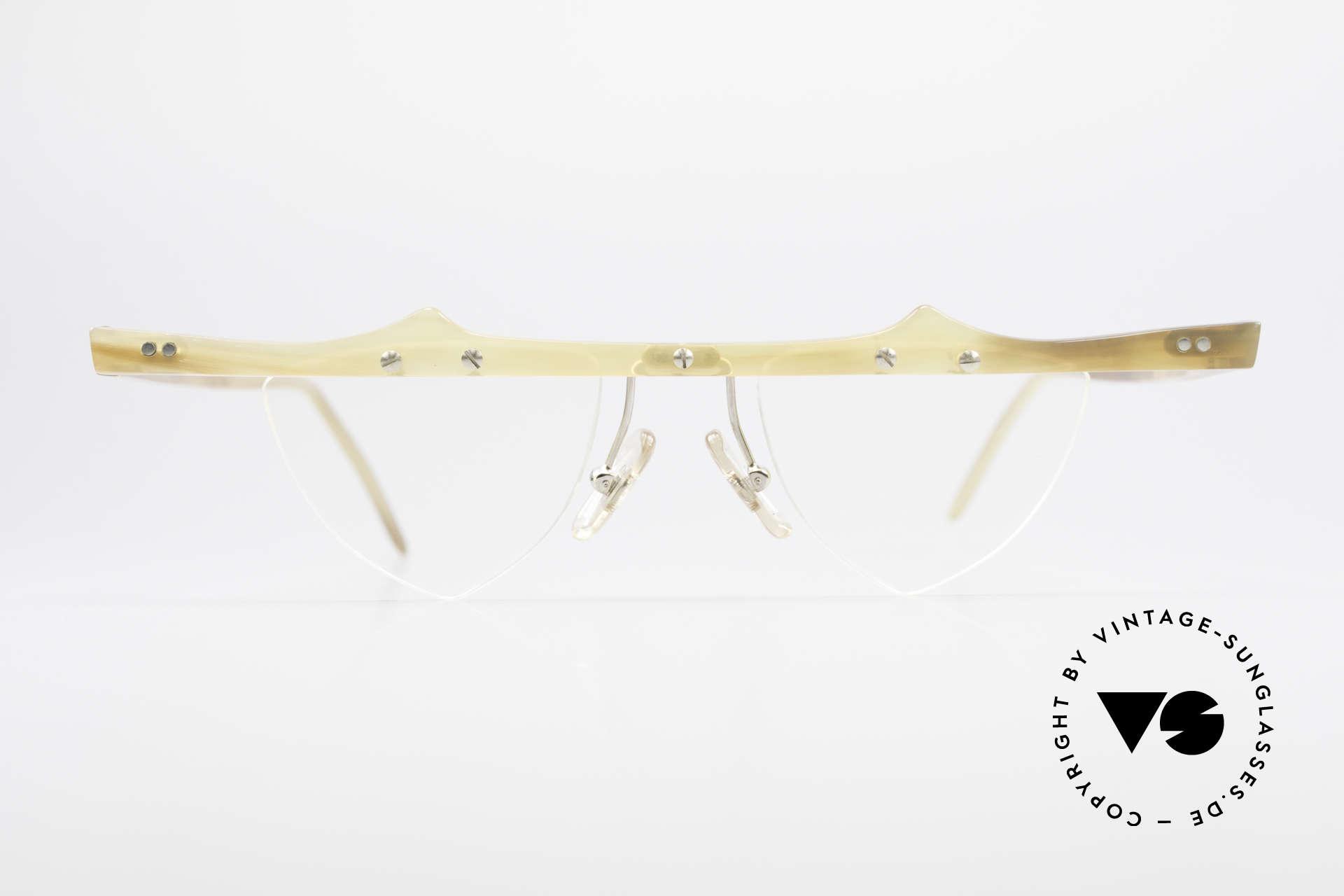 Theo Belgium Eta Heart Glasses Buffalo Horn, founded in 1989 as 'anti mainstream' eyewear / glasses, Made for Women