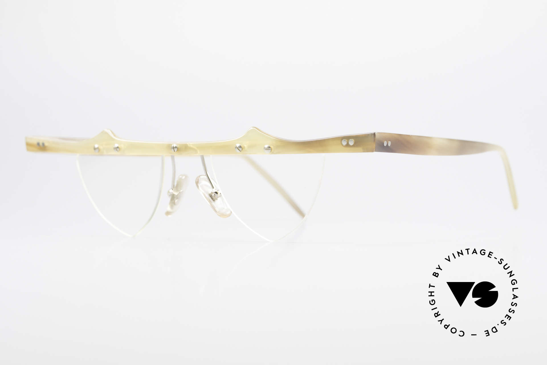 """Theo Belgium Eta Heart Glasses Buffalo Horn, the first Theo collection """"Balkenbril"""" was made of horn, Made for Women"""
