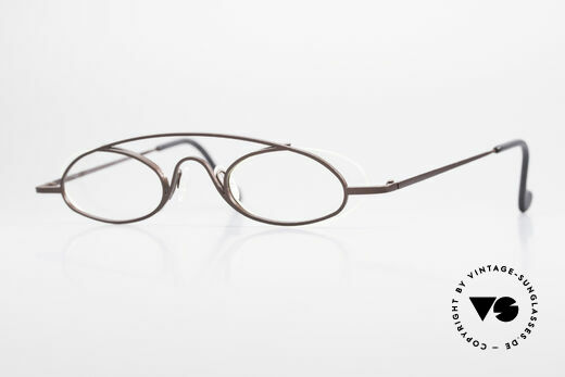 Theo Belgium Hababa Rimless Rimmed Frame Oval Details