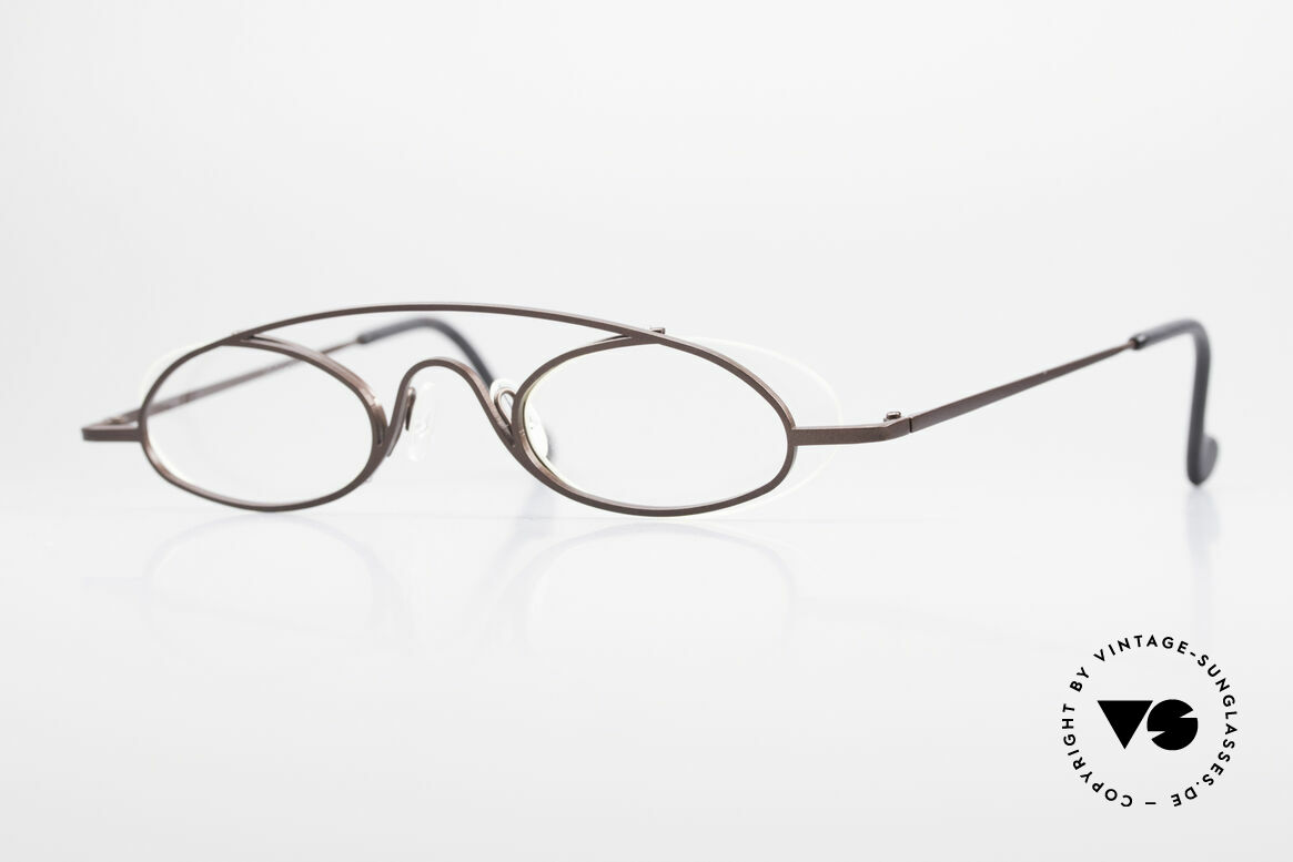 Theo Belgium Hababa Rimless Rimmed Frame Oval, vintage THEO Belgium eyeglass-frame from app. 1997, Made for Men and Women