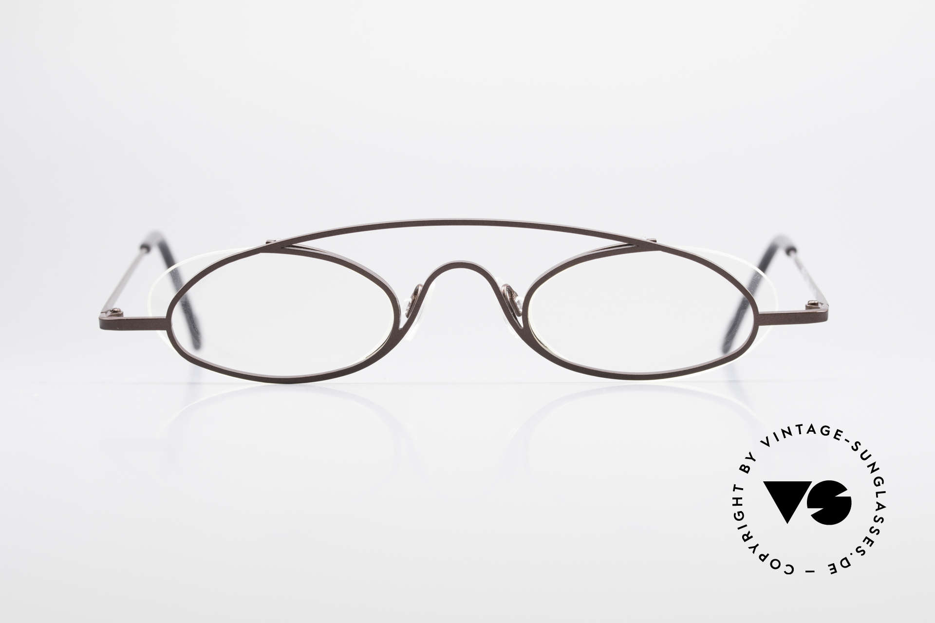 """Theo Belgium Hababa Rimless Rimmed Frame Oval, fancy model: """"rimless"""" & """"rimmed"""" at the same time, Made for Men and Women"""