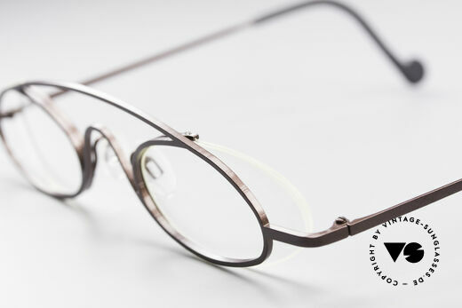Theo Belgium Hababa Rimless Rimmed Frame Oval