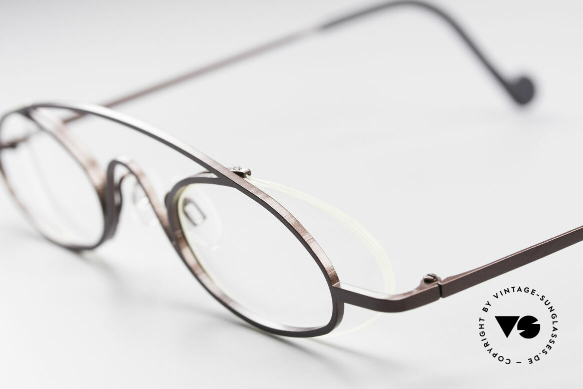 Theo Belgium Hababa Rimless Rimmed Frame Oval, an extraordinary designer piece by THEO BELGIUM, Made for Men and Women
