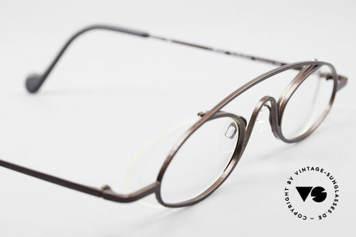 Theo Belgium Hababa Rimless Rimmed Frame Oval, demo lenses can be replaced with lenses of any kind, Made for Men and Women