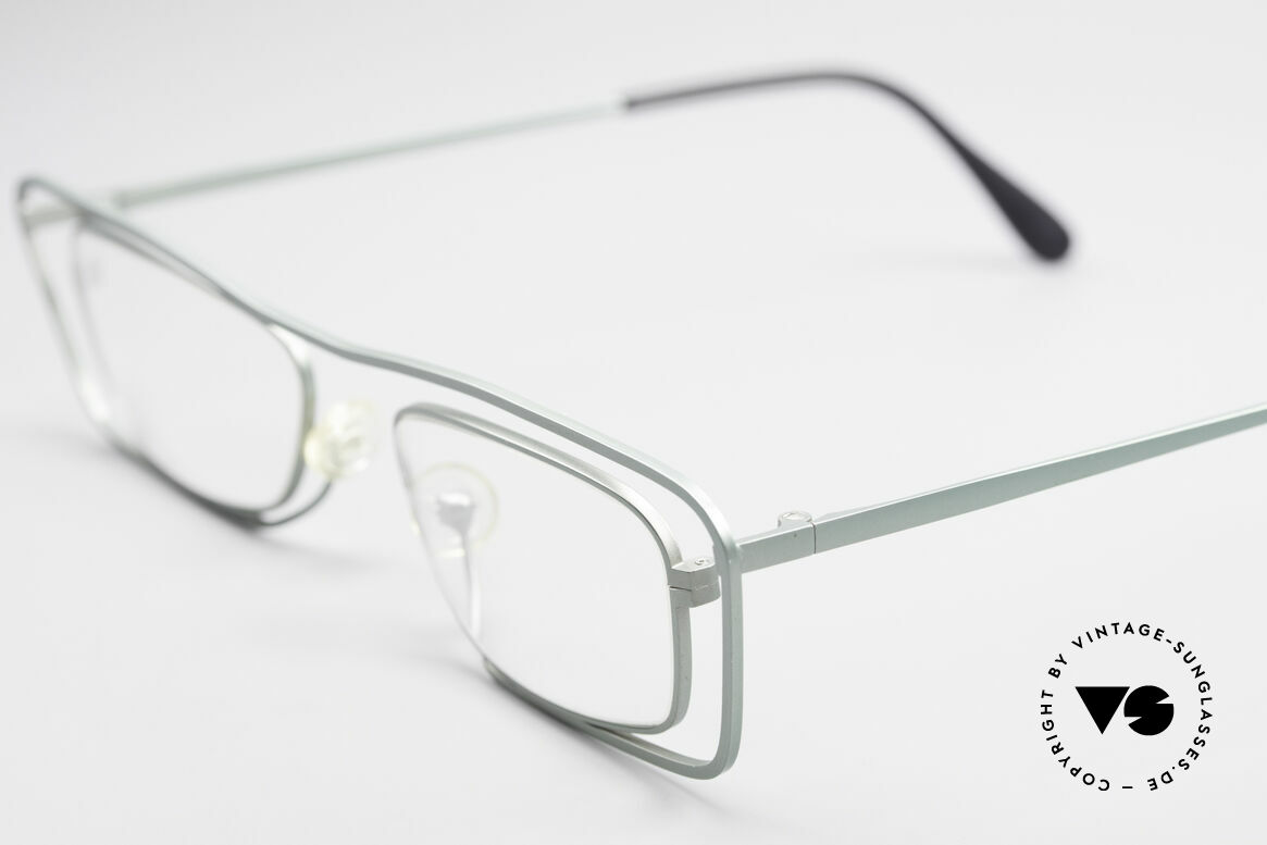 Theo Belgium Papa Vintage Glasses For Papa, fancy 1990's metal eyeglasses in top-quality; art object!, Made for Men