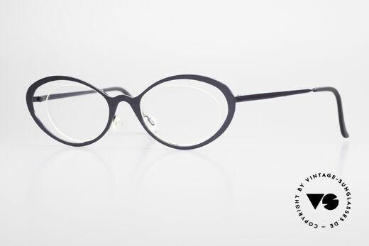 Theo Belgium LuLu Rimless Cateye Glasses 90's Details