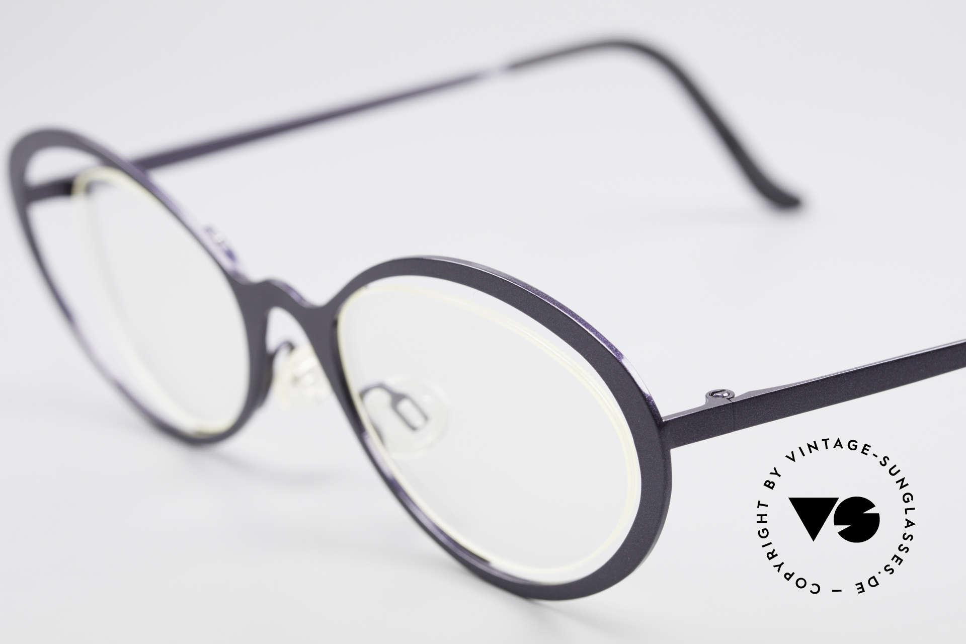 Theo Belgium LuLu Rimless Cateye Glasses 90's, an extraordinary designer piece by THEO BELGIUM, Made for Women