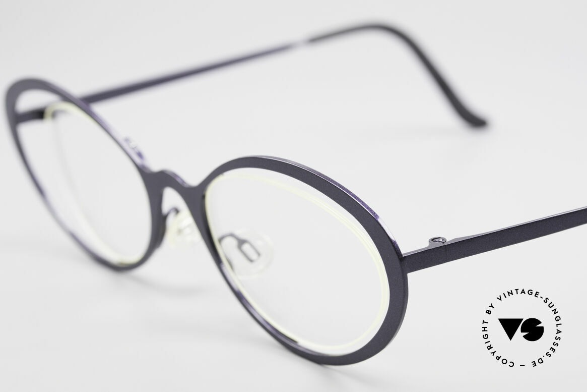 Theo Belgium LuLu Rimless Cateye Glasses 90's, an extraordinary designer piece by THEO BELGIUM, Made for Women