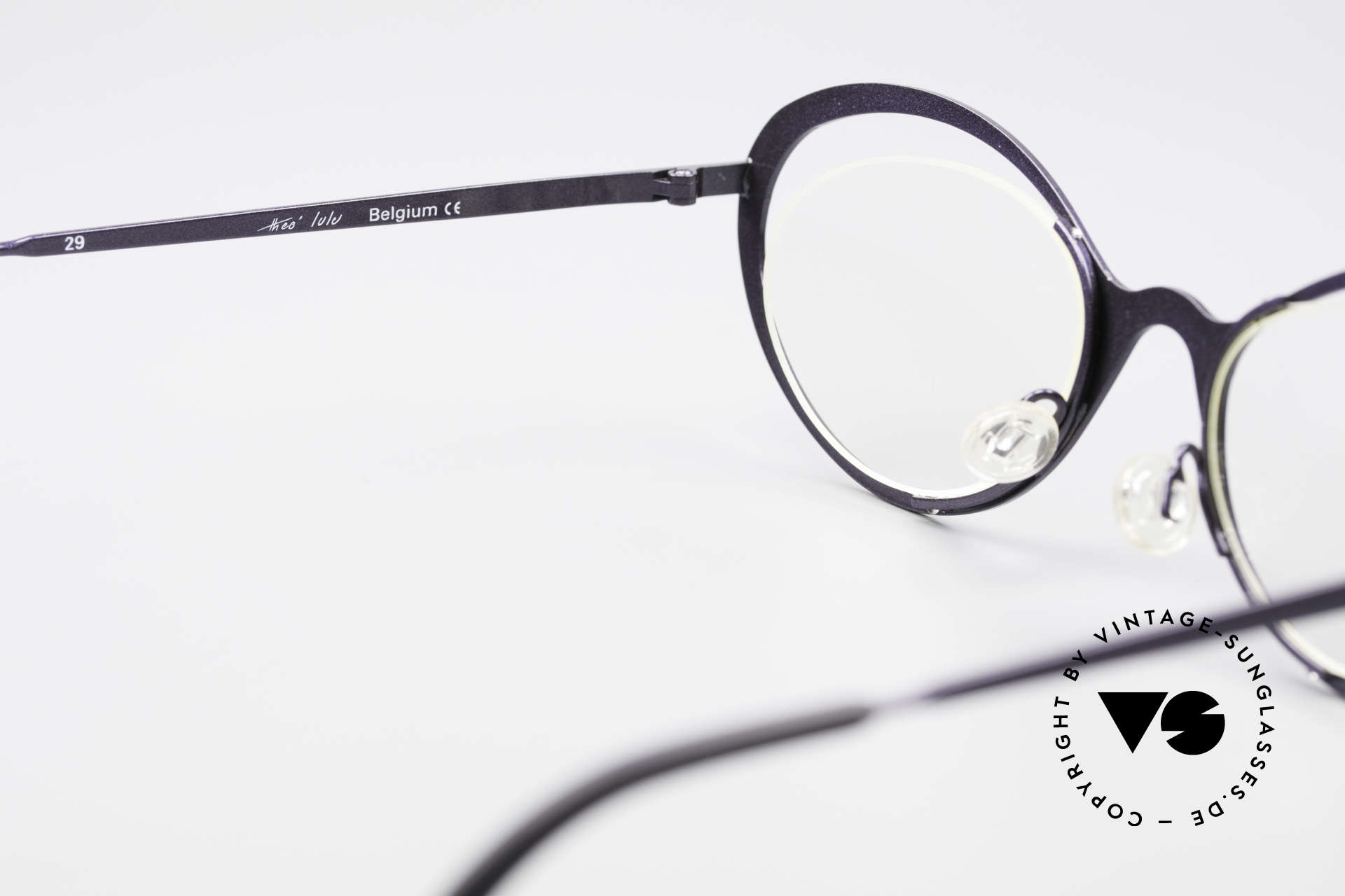 Theo Belgium LuLu Rimless Cateye Glasses 90's, NO RETRO frame; but a rare 20 years old ORIGINAL, Made for Women
