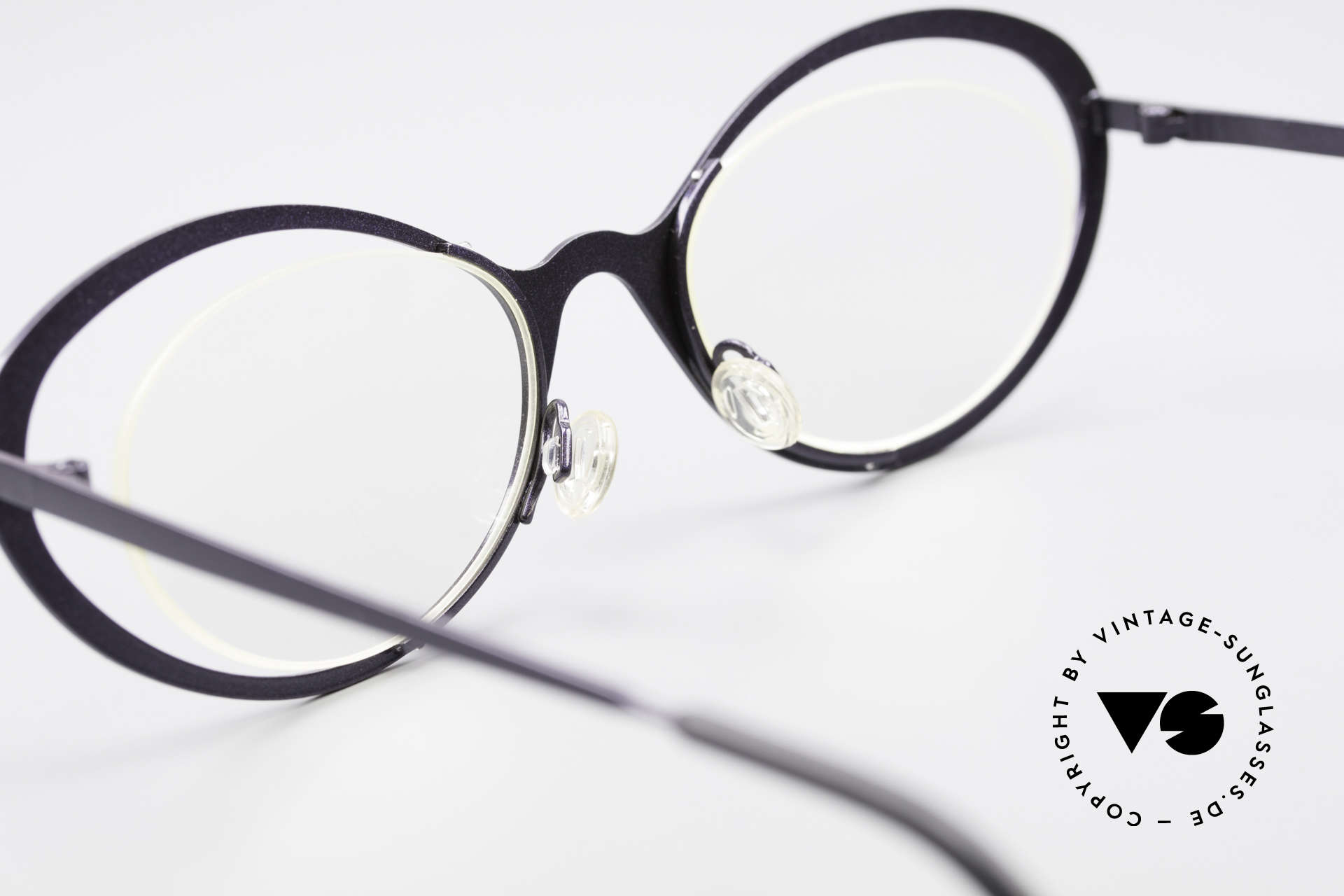 Theo Belgium LuLu Rimless Cateye Glasses 90's, demo lenses can be replaced with lenses of any kind, Made for Women