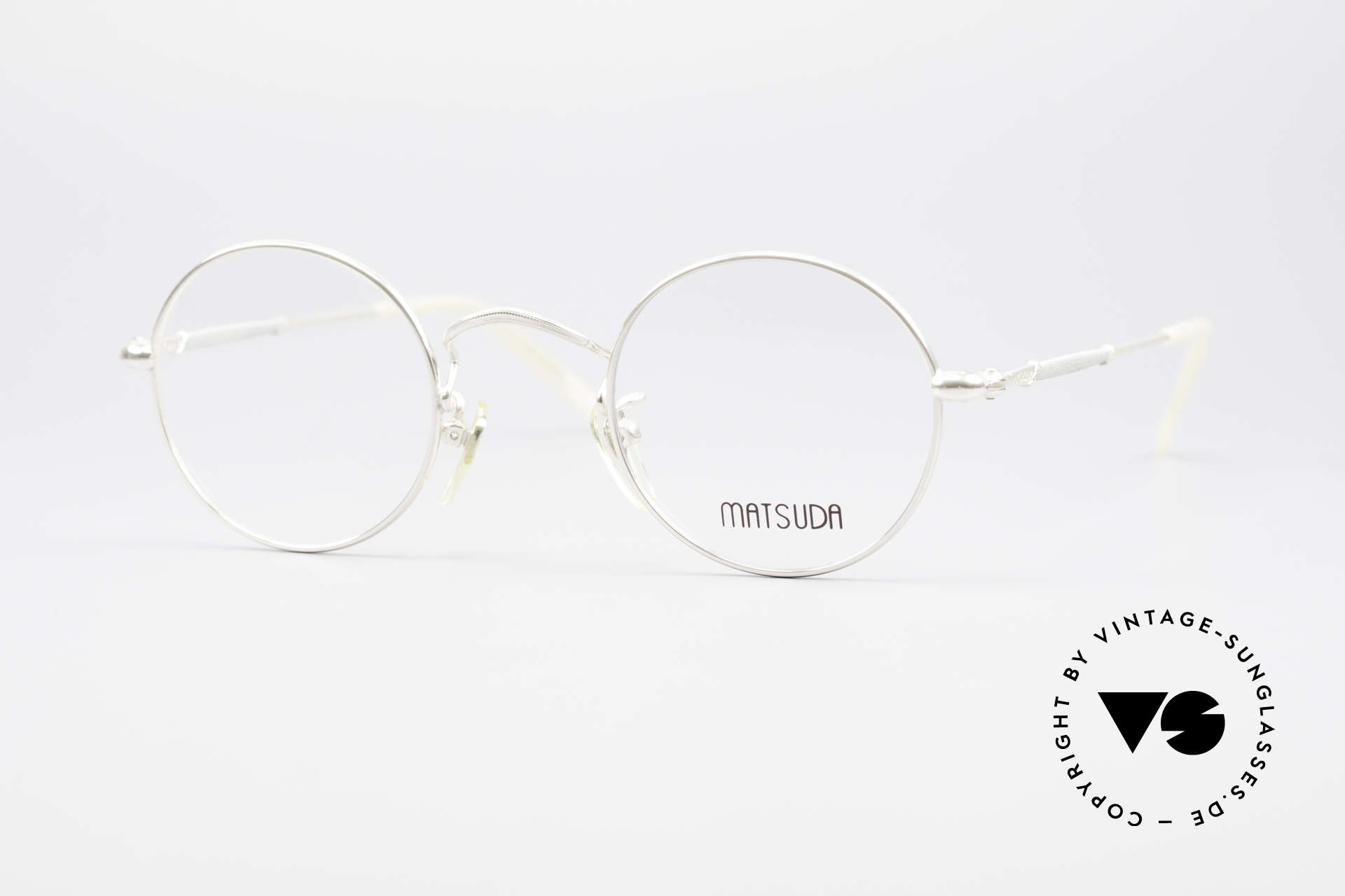 Matsuda 2872 Round 90's Designer Glasses, round vintage designer glasses by Matsuda from the 90's, Made for Men and Women