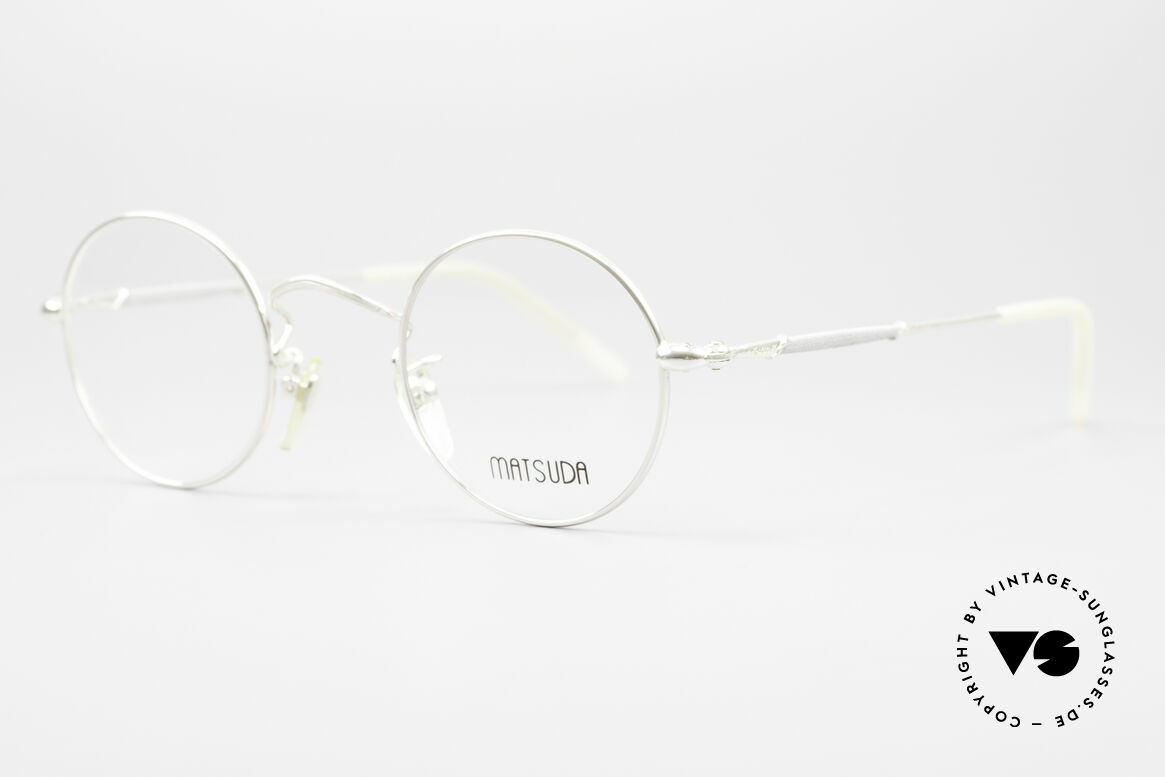 Matsuda 2872 Round 90's Designer Glasses, model represents lifestyle & quality awareness, similarly, Made for Men and Women
