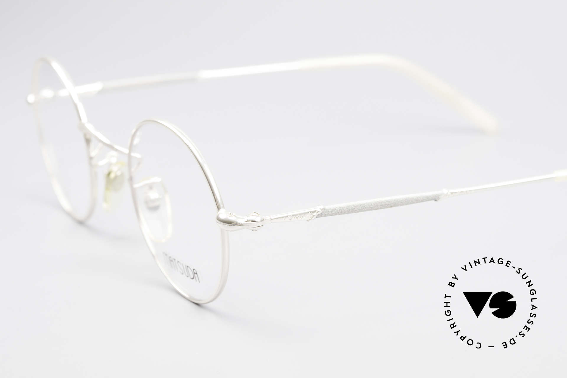 Matsuda 2872 Round 90's Designer Glasses, costly 'design elements' decorate the frame (size 44-24), Made for Men and Women