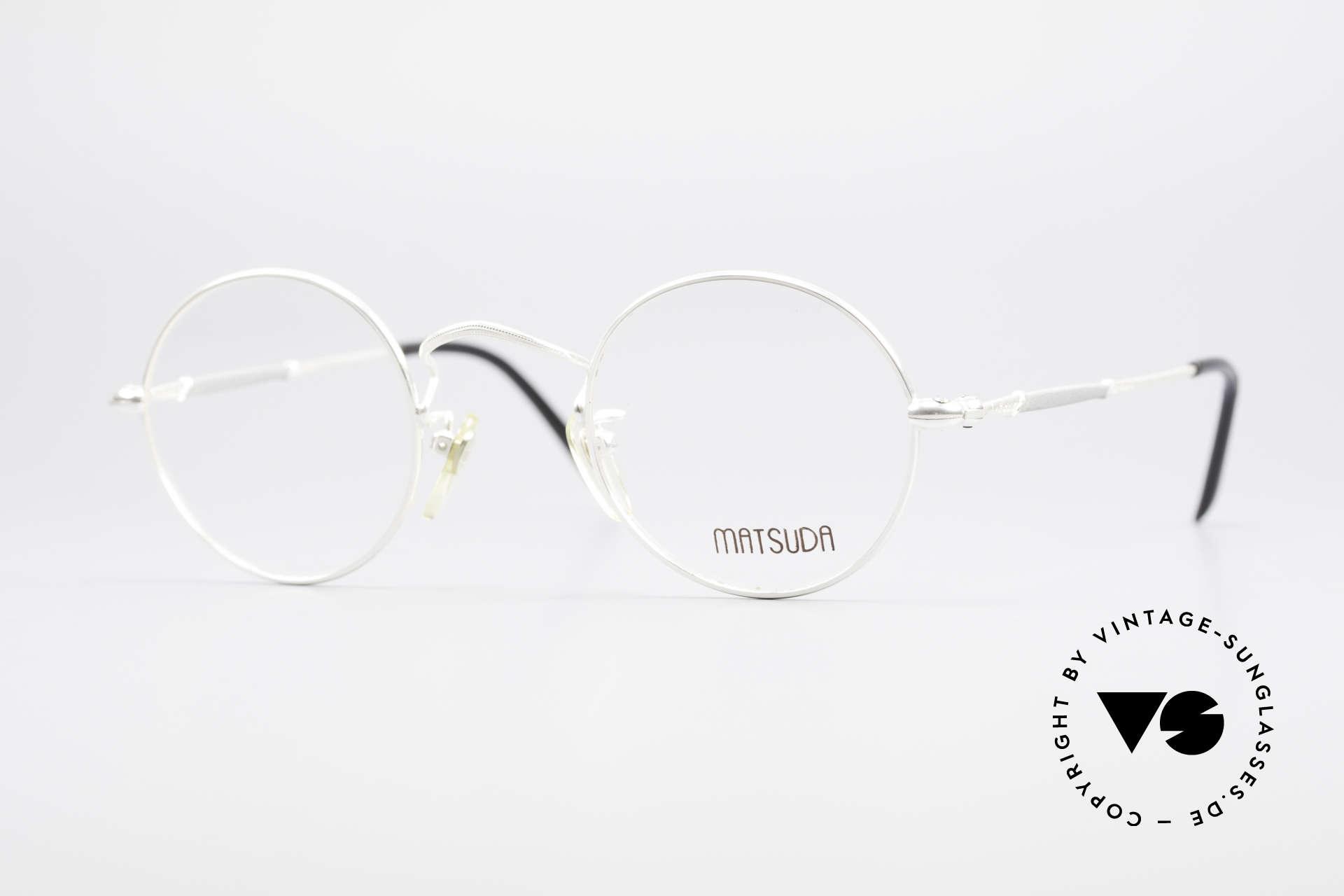 Matsuda 2872 90's Designer Glasses Round, round vintage designer glasses by Matsuda from the 90's, Made for Men and Women