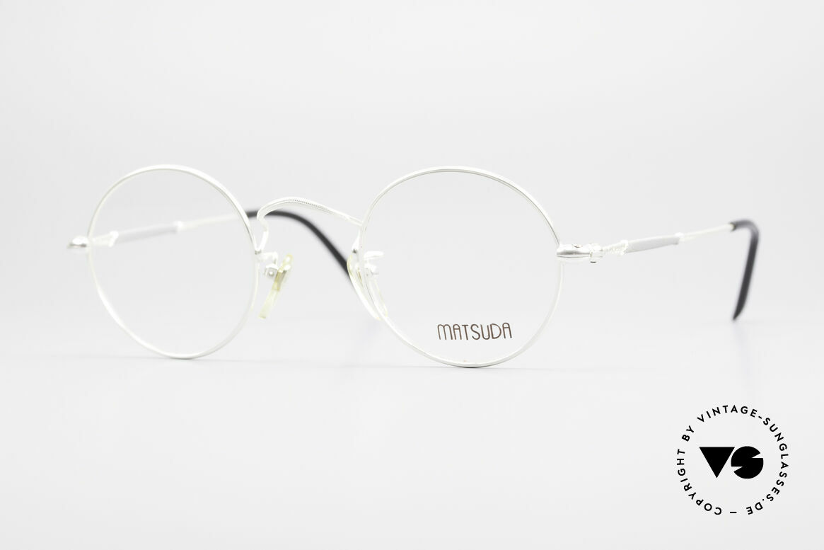 Matsuda 2872 90's Designer Glasses Round, round vintage designer glasses by Matsuda from the 90's, Made for Men and Women