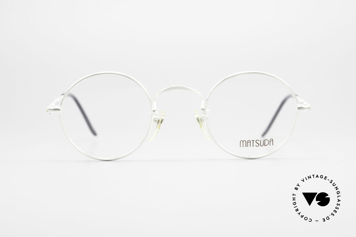 Matsuda 2872 90's Designer Glasses Round, outstanding craftsmanship by the Japanese manufactory, Made for Men and Women