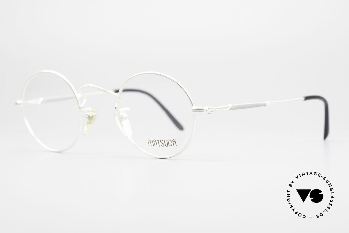 Matsuda 2872 90's Designer Glasses Round, model represents lifestyle & quality awareness, similarly, Made for Men and Women