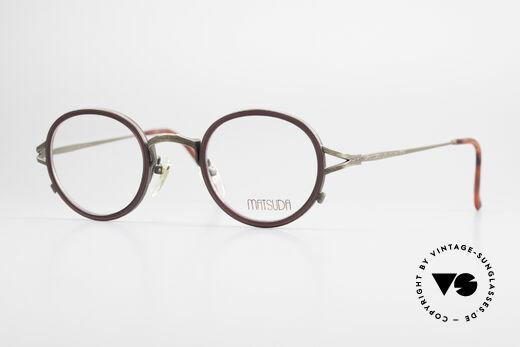 Matsuda 2835 Round 90's Eyeglass-Frame Details