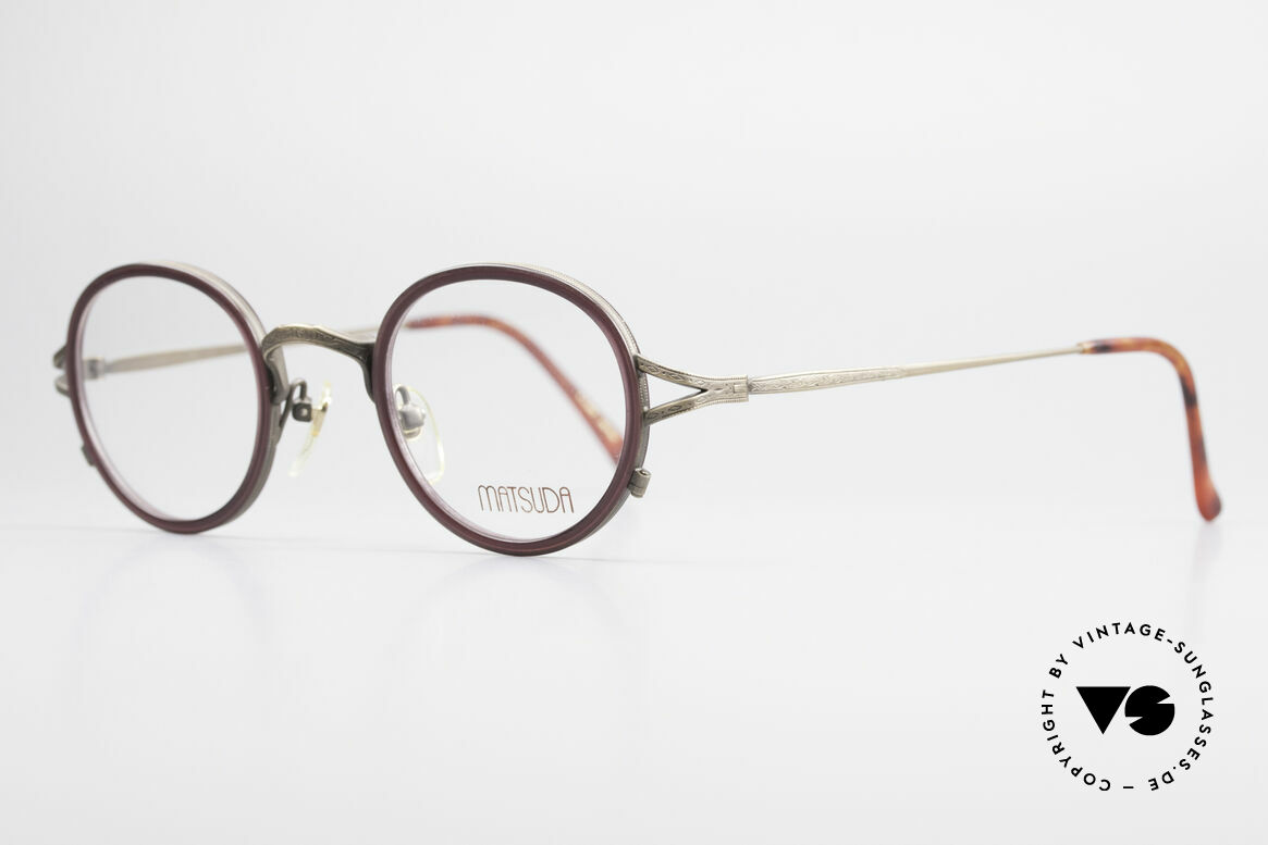 Matsuda 2835 Round 90's Eyeglass-Frame, full frame with attention to details; simply perfect, Made for Men and Women